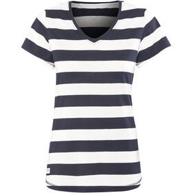 Bergans W's Bastøy Tee White/Navy Striped